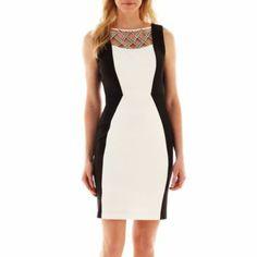 Melrose Sleeveless Sheath Dress   found at @JCPenney
