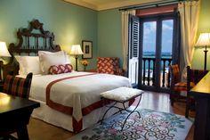 Guest room at Hotel El Convento in San Juan, Puerto Rico on Glorious ★ Americana  #hotels #Caribbean #historichotels #bedroom #design #SanJuan #gloriousamericana