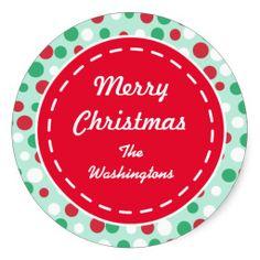 Custom Retro Holiday Stickers