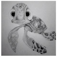 Squirt (finding Nemo) by maenzchen on DeviantArt Disney Sketches, Disney Drawings, Cartoon Drawings, Cartoon Art, Drawing Sketches, Art Drawings, Sketching, Disney Pixar, Disney Art