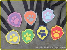 DIY Paw Patrol Party - create custom badges for your favorite pup! Sky Paw Patrol Costume, Paw Patrol Party, Paw Patrol Birthday, Paw Patrol Badge, Paw Patrol Pups, Birthday Crafts, 4th Birthday Parties, Birthday Ideas, Custom Badges