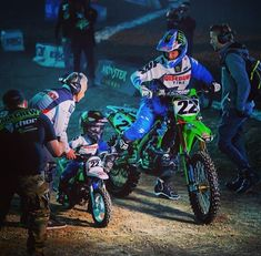 The cutest thing ever!! Chad Reed and his son at A1 SX 2014
