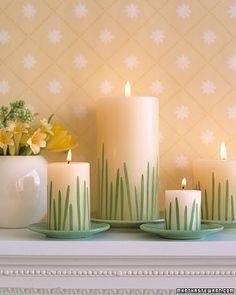 How to: Grass candles centerpiece