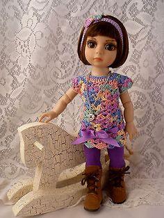 Crocheted-Tunic-Dress-Handband-Tights-Necklace-Tonner-Patsy-Ann-Estelle-Doll. BIN for $38.00