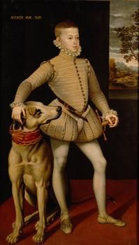 Archduke Albrecht VII (1559-1621) at the age of 14 years, 1573