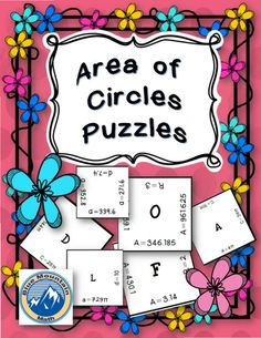 Students practice finding the area of circles in these 4 puzzles given either circumference, diameter or radius.