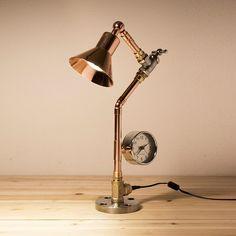 PIPESTORY Pipe lamp / Copper lamp /Copper pipe by PipeStoryLamp