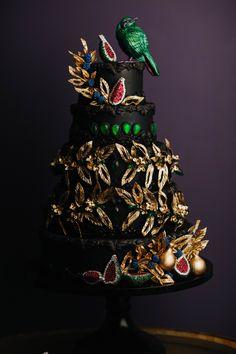 Emerald Couture Cake I Sugar Bird Cake I Sugar Emerald Starling Cake I Fig Wedding Cake I Jewel Wedding Cake I Mischief Maker Cakes   #purple #emerald #cake #metallic #colors #nature #fantasy #african #french #design #travel #world #travels #sugar #handmade #black #jewel #diamonds #emeraldstarling #nature #feather #mischiefmakercakes #Luxury #luxurywedding #luxuryweddingcakes #themischiefmaker #bemischievious