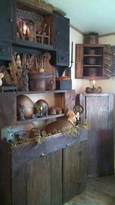 Large rustic kitchen cupboard