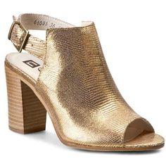 Sandály NESSI - 66005  Złoty Lizaro Heeled Mules, Peeps, Peep Toe, Shoes, Fashion, Moda, Zapatos, Shoes Outlet, Fashion Styles