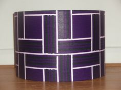Colour popping Blueberry Purple African Print Fabric Drum Lampshade by AnkaraLampshades