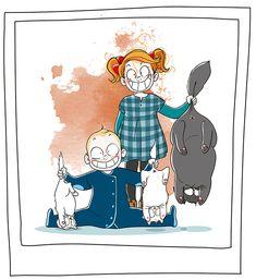 Petit précis de Grumeautique - Blog illustré by Nathalie Jomard (Paris, France) Illustration Mignonne, Funny Illustration, Illustrations, Funny Cats, Funny Animals, Character Inspiration, Character Design, Cartoon Characters, Fictional Characters