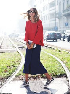 skirt & sneakers, cool outfit