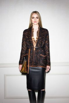 Total look by (NUDE) jacket skirt and bag from the fall/winter 15 womenswear collection http://www.betosee.com/collection/59155