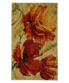 Take a look at this Mohawk Home Orange Flamboyant Rug by Color Trend: Orange on #zulily today!