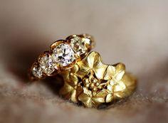 two rings   REGARD Co.,Ltd. Stud Earrings, Brooch, Jewelry, Jewellery Making, Ear Studs, Jewelery, Brooches, Jewlery, Jewels