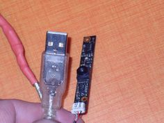 "It's the same process of my precedent instructable ""Rescue a Bluetooth from laptop""........4 cable(black,red,withe,green) to connect on a old USB cable with male part......isolated and enjoy.......windows search automatically all drivers but if you know the laptop,search the software on constructor website and install it......very good quality of image and all usage is possible.....(spy cam,surveillance,Skype,birdhouse........)......The dimension is very small........big place to your"