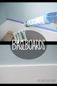 I'm Flying South: DIY-ing MDF baseboards. Mdf Trim, Baseboard Trim, Baseboards, Baseboard Ideas, Home Improvement Loans, Home Improvement Projects, Home Projects, Home Renovation, Home Remodeling