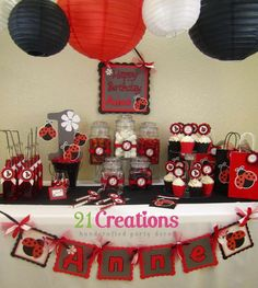 Ladybug 1st birthday Birthday Party Ideas | Photo 1 of 7 | Catch My Party