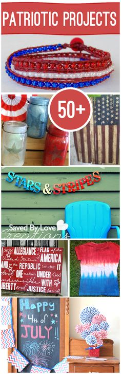 4th of July is just around the corner!! Here are 50+ Patriotic Crafts you can do alone or with your kids!