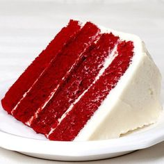 Our Red Velvet Cake really is velvety soft, moist and scrumptious! It has just a touch of dutch cocoa, and red food coloring isn't added.