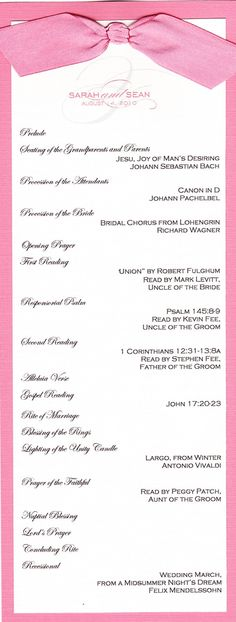 Wedding Ceremony Or Mass Booklet Service Covers Template
