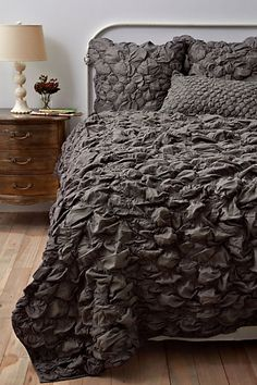Charcoal quilt for master bedroom
