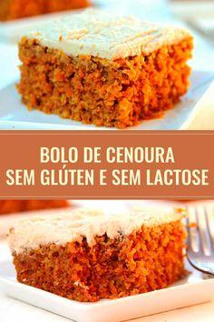 Receita de bolo de cenoura americano perfeito para Páscoa. É tão fácil e saboroso que vai virar sua nova receita de bolo de cenoura. Fica molhadinho, é sem glúten, sem lactose e fica ainda mais gostoso gelado.