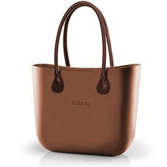 O bag Classic in Bronze with Brown Long Real Leather Handles