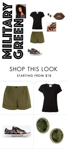 """""""Military green"""" by urqveen123 on Polyvore featuring beauty, Burberry, Forte Forte, Valentino, 1928 and Lime Crime"""