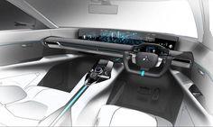 Mitsubishi e Volution Concept Interior Design Render Car Interior Sketch, Car Interior Design, Interior Design Sketches, Car Design Sketch, Interior Rendering, Interior Concept, Automotive Design, Car Sketch, Car Ui