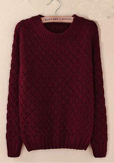 Hook flower stitching hollow sweater #BH091602EF