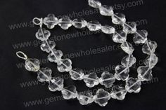 Crystal Quartz Faceted Flower Quality AA / by GemstoneWholesaler, $23.04
