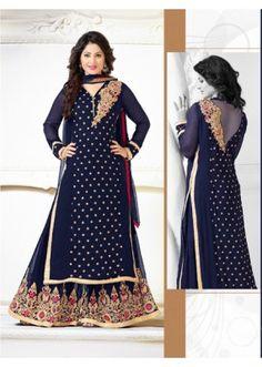 Eid Special BlueGeorgette Palazzo Suit - Heena79