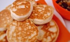 Pikelets really are the ultimate in easy snacks to make at home - and is there a child anywhere who doesn't love a warm pikelet eaten straight from the frying pan? Snacks To Make, Easy Snacks, Food To Make, Easy Meals, Toddler Snacks, Pikelet Recipe, Good Food, Yummy Food, Baby Food Recipes