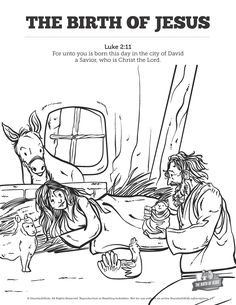 The Birth Of Jesus Sunday School Coloring Pages Your Kids Are Going To Love Unleashing Their Creativity On This Activity