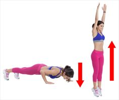 A Workout That Can Transform Your Body Like a Magic Spell – Green Challenge Burpees, Toning Workouts, Easy Workouts, Faire Des Squats, Lower Back Muscles, Shoulder Muscles, Leg Lifts, Best Stretches, Muscle Tone