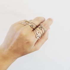 Knot and striped Dear Rae rings South African Design, Say Hi, Knot, Jewels, Jewellery, Classic, Rings, Instagram, Derby
