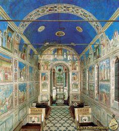 Fresco de la Capilla de los Scrovegni Autor: Giotto di Bondone Fecha: 1304-13 Me hace pensar en la importancia que tenía para el hombre renacentista unir el lado espiritual (religioso) mediante lo estético correspondiente al mundo terrenal