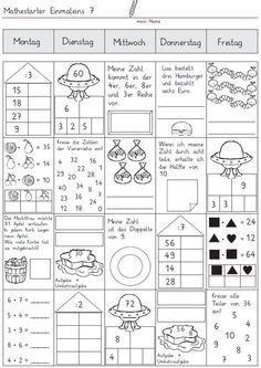 Vier-Tage-Mathe-Training (Zahlenraum bis 10) -   Teaching art, Pre ...