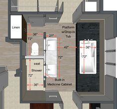 Bath Layout - Contemporáneo - Plano de planta - Otras zonas - de Steven Corley Randel, Architect