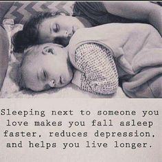 So true i always sleep best next to my babies..and i wake up so happy to see their as equally happy to see me