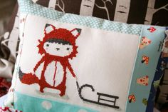 Cute Cross Stitch Pillow