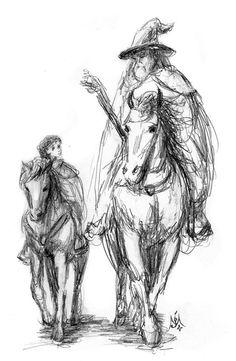 'Returning Home (Bilbo & Gandalf)' by Jef Murray