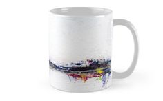 Frozen Abstract Landscape - mug design by scatterlings Framed Prints, Canvas Prints, Art Prints, Mug Designs, Abstract Landscape, Frozen, Iphone Cases, Throw Pillows, Mugs