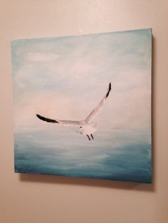 Seagull painting in acrylics