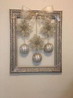 christmas decorations for sale in phoenix az - weihnachtsbasteln - noel Christmas Balls, Simple Christmas, Winter Christmas, Vintage Christmas, Christmas Holidays, Christmas Gifts, Christmas Ornaments, Diy Christmas Frames, Christmas Music