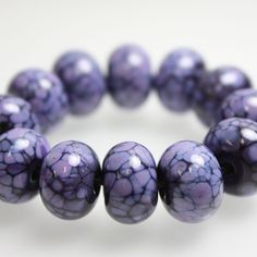 Purple on Purple Lampwork Beads #lampworkbeads #purple #beads