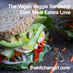 Veggie Sandwich Even Meat Eaters Love This LOADED vegan veggie sandwich is carnivore-approved! Piled high with fresh veggies, avocado, and hummusThis LOADED vegan veggie sandwich is carnivore-approved! Piled high with fresh veggies, avocado, and hummus Vegan Recipes Videos, Beef Recipes, Whole Food Recipes, Cooking Recipes, Healthy Recipes, Dinner Recipes, Quick Vegetarian Meals, Vegan Dinners, Vegan Vegetarian