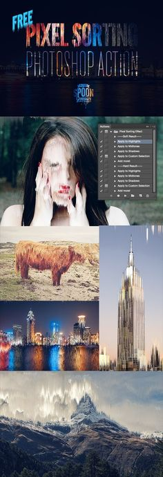 Free Pixel Sorting Photoshop Action for Creating Glitch Art